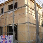八尾新築一戸建て 中間検査(屋根の小屋組の完了)