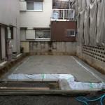 八尾新築一戸建て 砕石敷き及び生コン打設